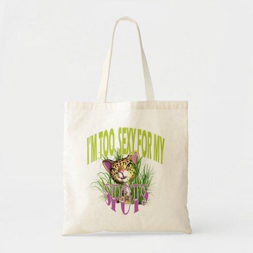 Cute cat funny comic art bags