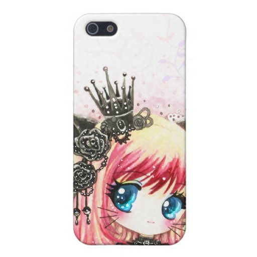 Cute cat girl in black lolita outfit covers for iPhone 5