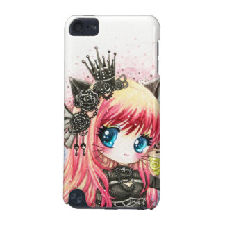 Cute cat girl in black lolita outfit iPod touch 5G covers