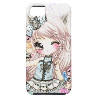 Cute cat girl in lolita style iPhone 5 cases