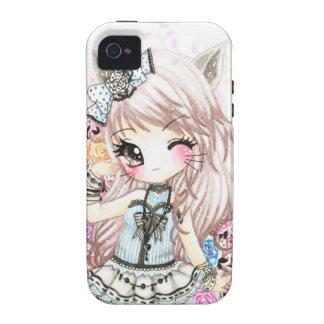 Cute cat girl in lolita style Case-Mate iPhone 4 case