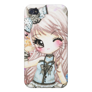 Cute cat girl in lolita style iPhone 4/4S case