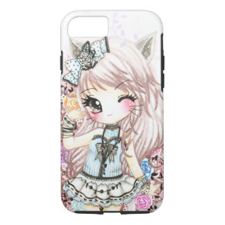 Cute cat girl in lolita style iPhone 7 case