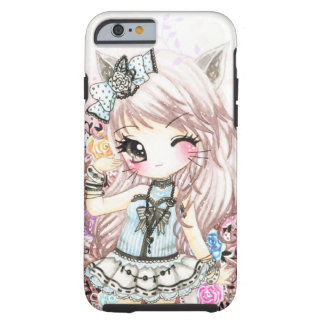 Cute cat girl in lolita style tough iPhone 6 case