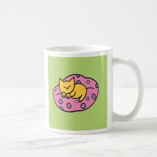 Cute Cat Green Coffee Mugs