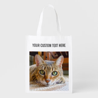 Cute Cat & Hamster custom reusable bag