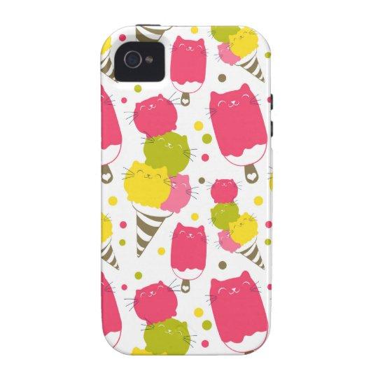 Cute Cat Ice Cream Vibe iPhone 4 Case
