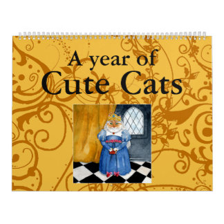 Cute cat illustrations calendar