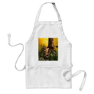 Cute cat in a fairy tale forest apron
