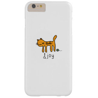 Cute cat &joy doodle barely there iPhone 6 plus case