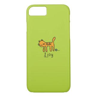 Cute cat &joy doodle iPhone 8/7 case