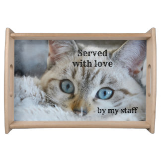 Cute Cat Lover Personalized Serving Tray