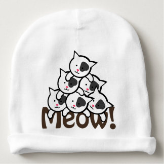 Cute Cat(Meow)black Baby Beanie