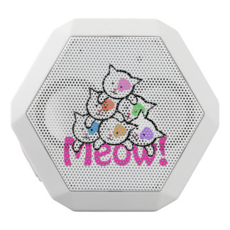 Cute Cat(MeowMeow) White Bluetooth Speaker