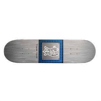 Cute Cat; Metal-look Skateboard