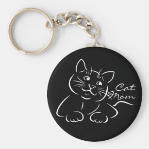 Any Women Mother Someone Special Siamese Cat Mummy Keyring Ideal Present//Gift