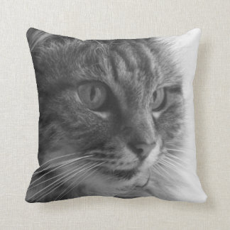 Cute cat monochrome cushion