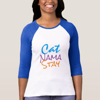 cute cat namastay funny t-shirt design cat mom