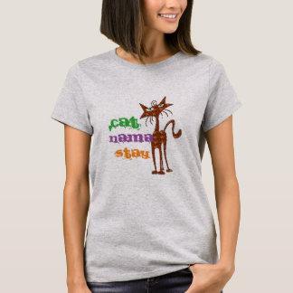 cute cat namastay funny t-shirt design cat mom
