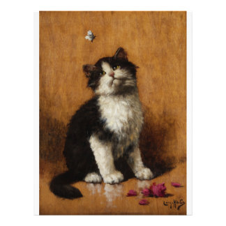 Cute Cat Painting Flyer Design