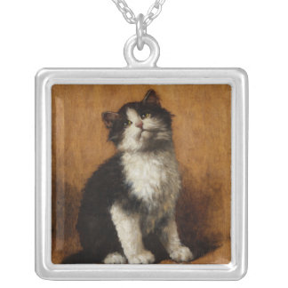 Cute Cat Painting Personalized Necklace