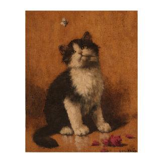 Cute Cat Painting Cork Fabric