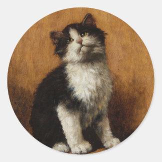 Cute Cat Painting Sticker