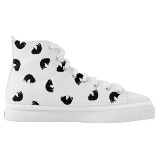 CUTE Cat Pattern Black and White High Tops