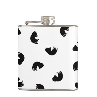 CUTE Cat Pattern Black and White Hip Flask