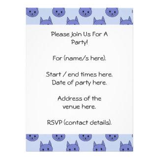 Cute cat pattern Blue Announcements