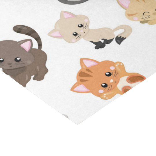 Cute cat pattern party tissue paper