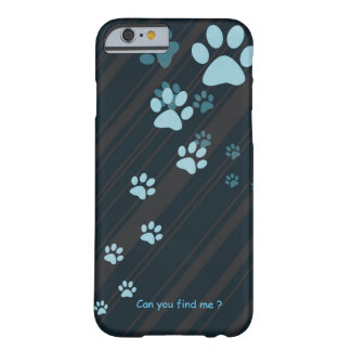 Cute cat paw prints design case barely there iPhone 6 case