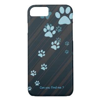 Cute cat paw prints design case