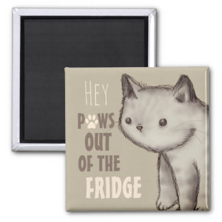Cute Cat Paws Out of the Fridge Magnet