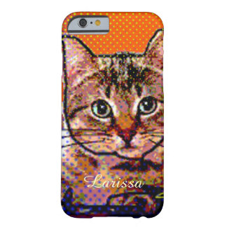 cute cat personalized barely there iPhone 6 case