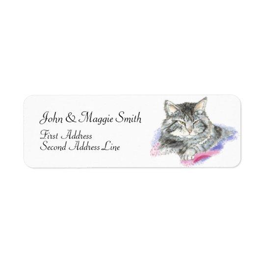 Cute Cat - Pet Collection Return Address Label