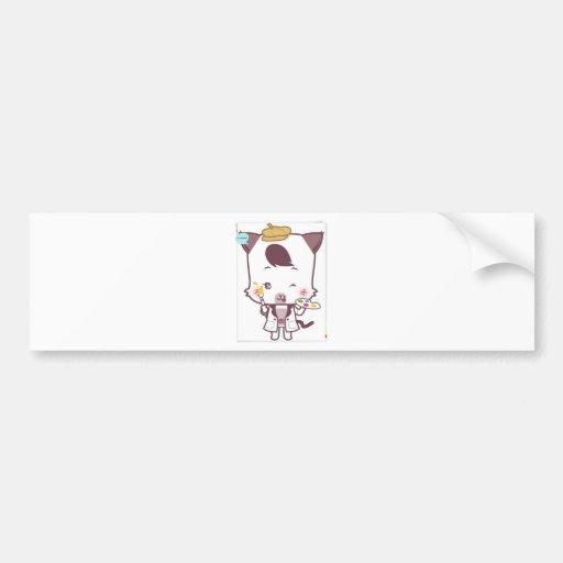 Cute cat 's cartoon bumper sticker