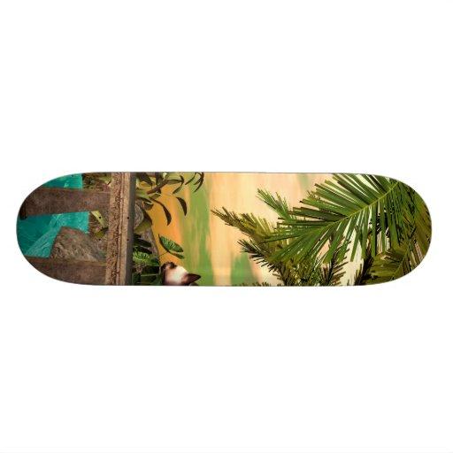 Cute cat custom skate board