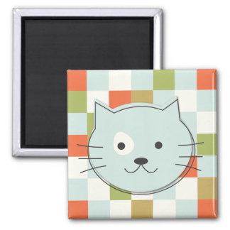 Cute Cat Square Magnet