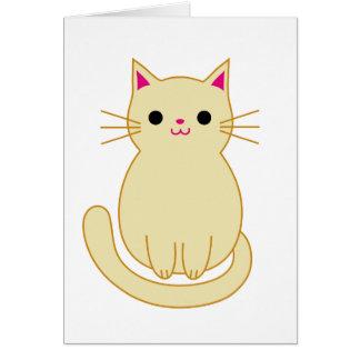 Cute Cat Thank you card