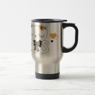 Cute Cat Travel Mug