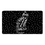 Cute Cat Typography Black White Polka Dots Pack Of Standard Business Cards