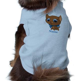 Cute cat vector illustration sleeveless dog shirt