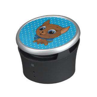 Cute cat vector illustration speaker