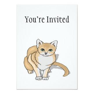 Cute Cat Watch 13 Cm X 18 Cm Invitation Card