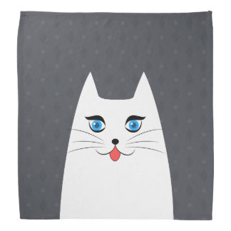Cute cat with tongue sticking out bandana