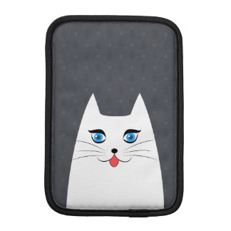 Cute cat with tongue sticking out iPad mini sleeve