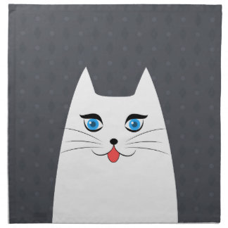 Cute cat with tongue sticking out napkin