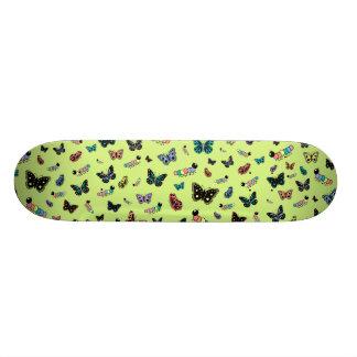 Cute Caterpillars & Butterflies (Green Background) Skateboard