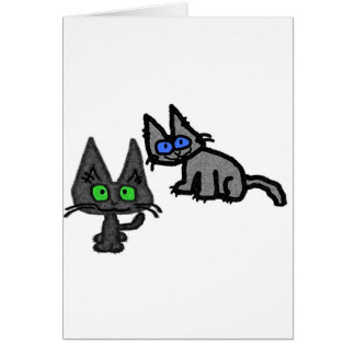 Cute Cats are Looking At You Card
